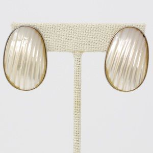DESIGNER Sterling Mother of Pearl & Pearl Earrings